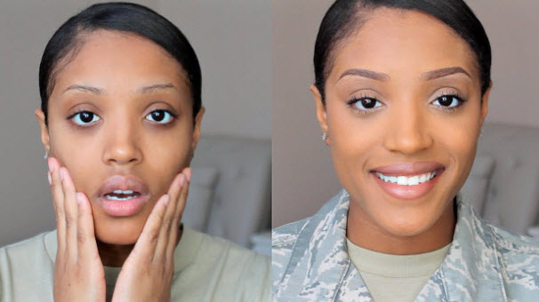 photo air force female makeup