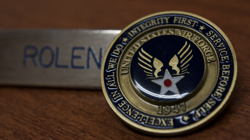 photo airman's coin replacement