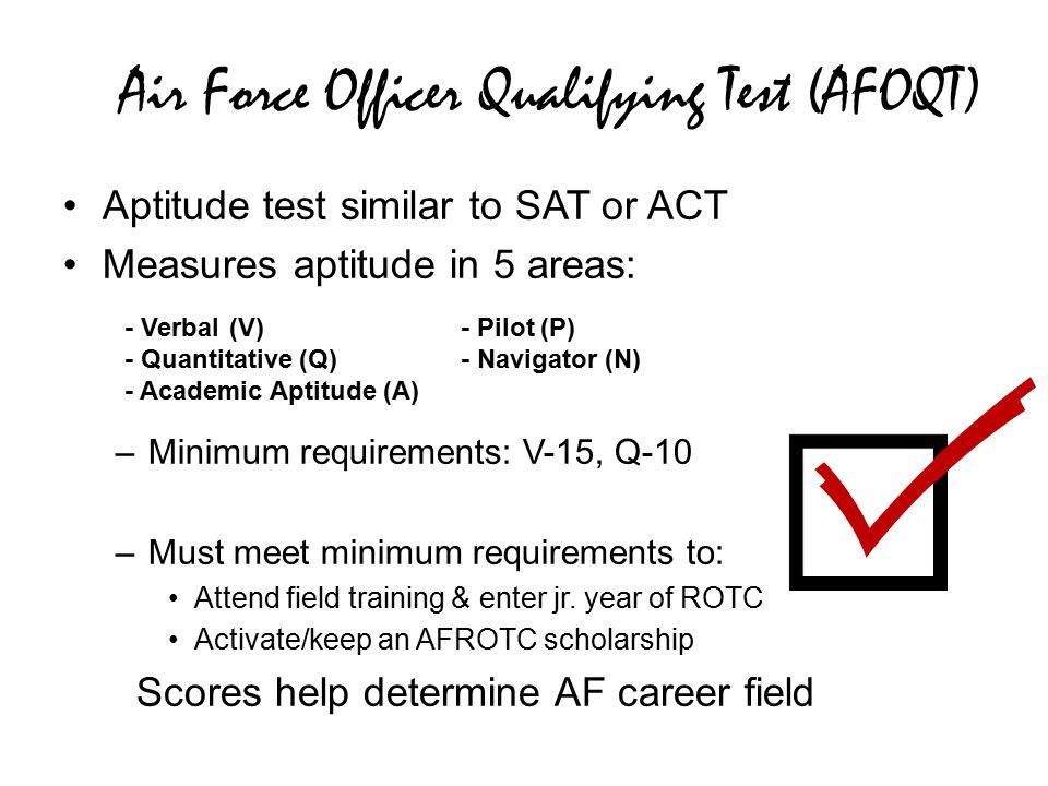 photo Air Force AFOQT Results