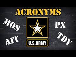 photo army acronyms