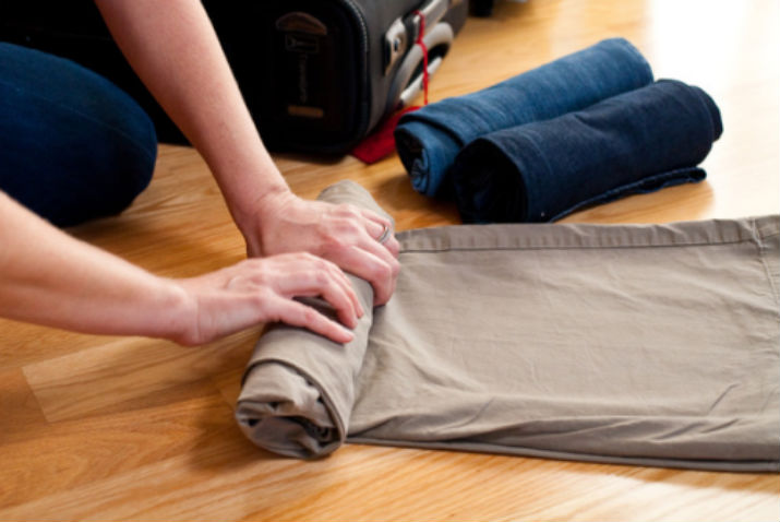 folding clothes military
